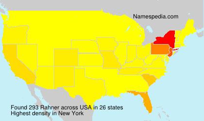 Surname Rahner in USA