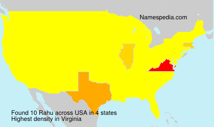 Surname Rahu in USA