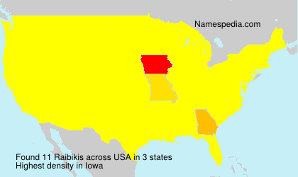 Surname Raibikis in USA