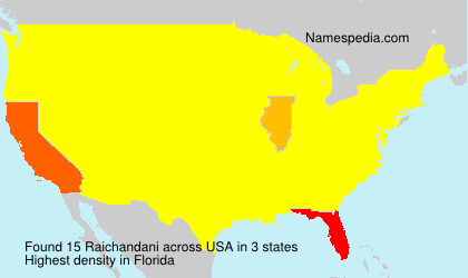 Surname Raichandani in USA