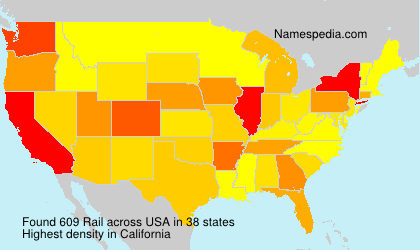 Surname Rail in USA