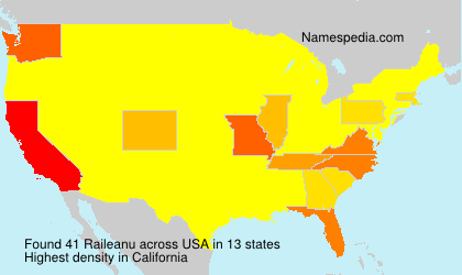 Surname Raileanu in USA