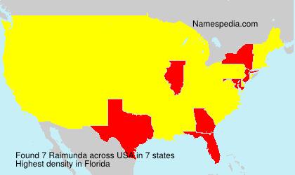 Surname Raimunda in USA