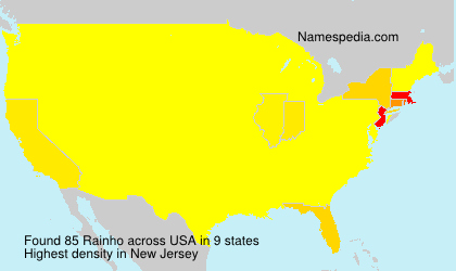 Surname Rainho in USA