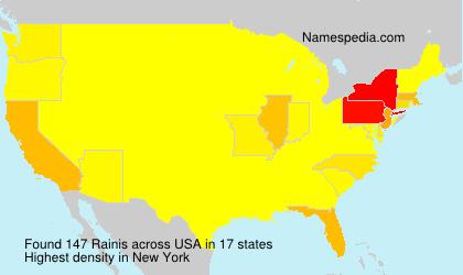 Surname Rainis in USA