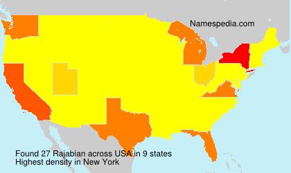 Surname Rajabian in USA
