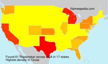 Familiennamen Rajashekar - USA