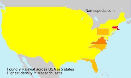 Surname Rajawat in USA