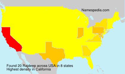 Familiennamen Rajdeep - USA
