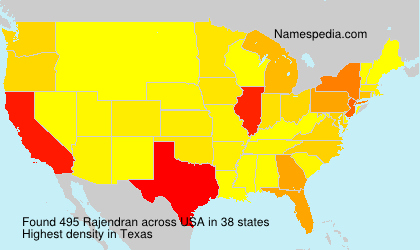 Surname Rajendran in USA