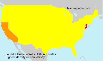 Surname Rajhel in USA