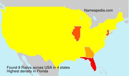 Surname Rajiva in USA