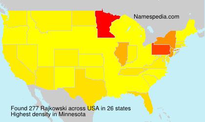 Surname Rajkowski in USA