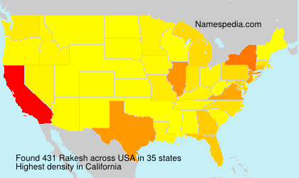 Surname Rakesh in USA