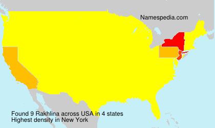 Surname Rakhlina in USA