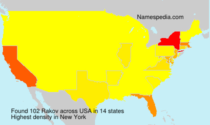 Surname Rakov in USA