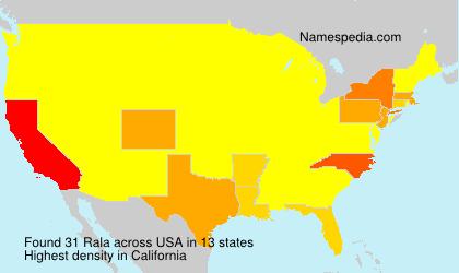 Familiennamen Rala - USA