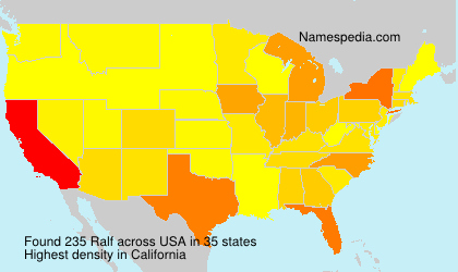 Surname Ralf in USA