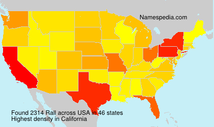 Surname Rall in USA