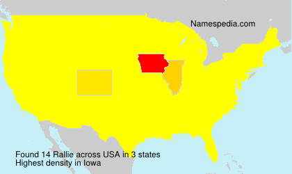 Surname Rallie in USA