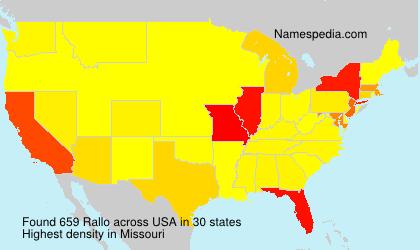 Surname Rallo in USA