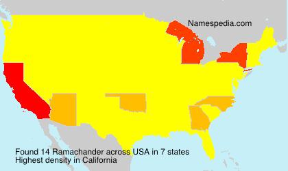 Surname Ramachander in USA