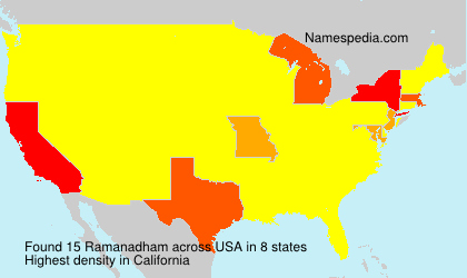 Surname Ramanadham in USA