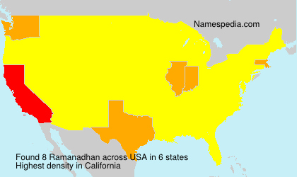 Surname Ramanadhan in USA