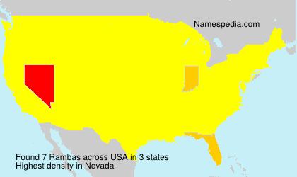 Surname Rambas in USA
