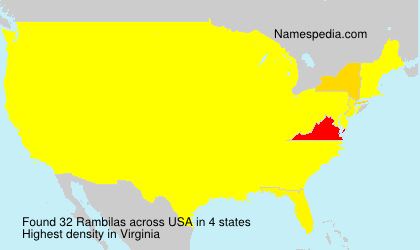 Surname Rambilas in USA