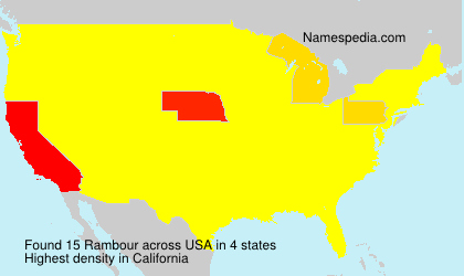 Surname Rambour in USA