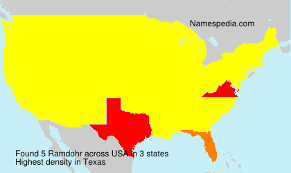 Surname Ramdohr in USA