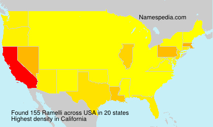 Surname Ramelli in USA