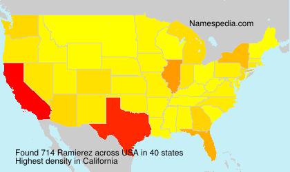 Surname Ramierez in USA