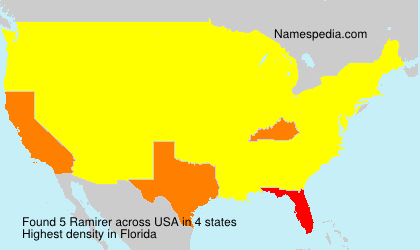 Surname Ramirer in USA