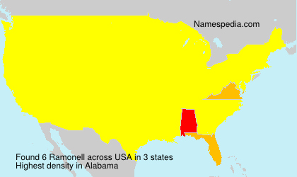 Surname Ramonell in USA