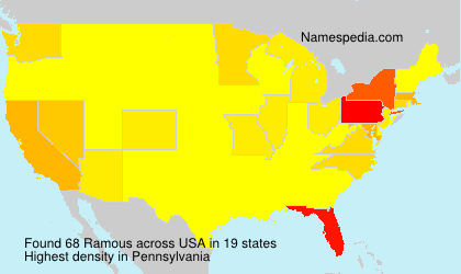 Surname Ramous in USA