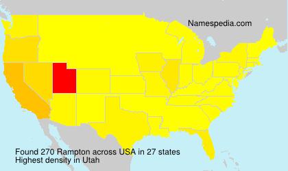 Familiennamen Rampton - USA