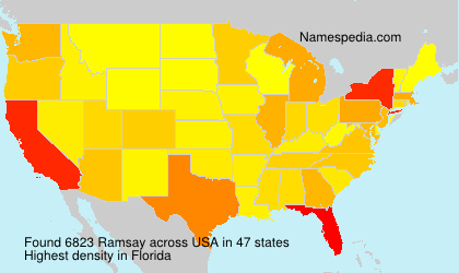 Surname Ramsay in USA