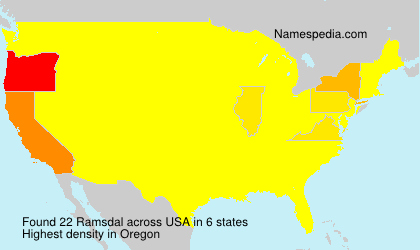 Surname Ramsdal in USA