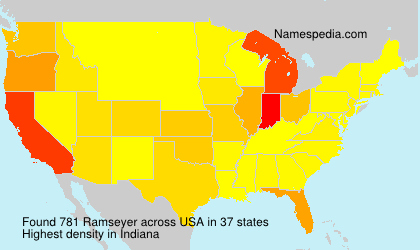 Surname Ramseyer in USA
