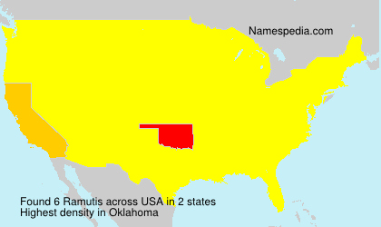 Surname Ramutis in USA