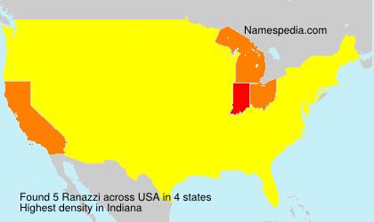 Familiennamen Ranazzi - USA