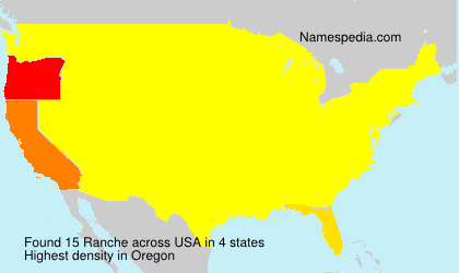 Surname Ranche in USA