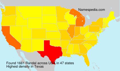 Surname Randal in USA