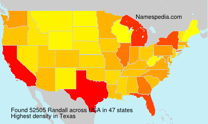Surname Randall in USA