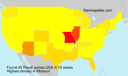 Familiennamen Randl - USA