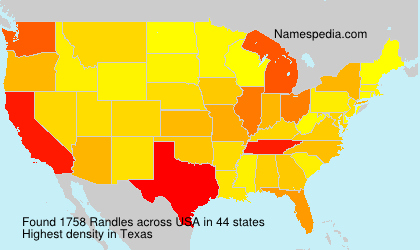 Surname Randles in USA