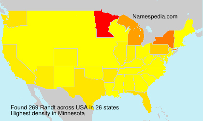Surname Randt in USA