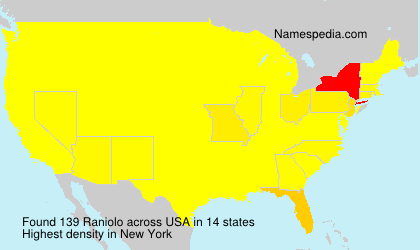 Surname Raniolo in USA